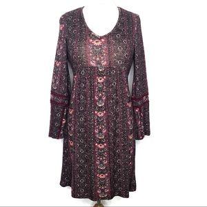 Olive + Oak Berry Boho Dress Size XS